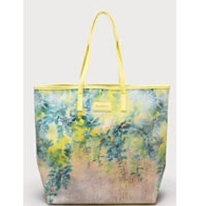 Bebe Yellow Floral Beach Bag